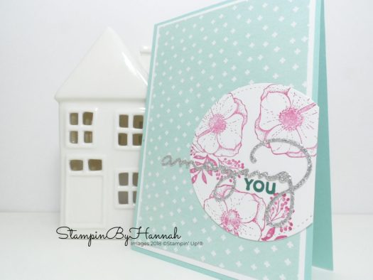Quick and easy card using Amazing You from Stampin' Up! Sale-a-bration