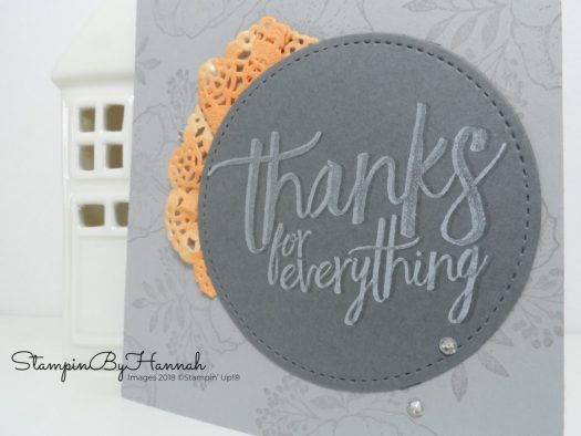 How to make a simple thank you card using All things thanks from Stampin' Up!