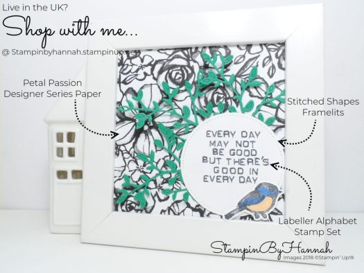 Thoughtful Thursday Creating a piece of Wall Art using Petal Passion Designer Series Paper from Stampin' Up!