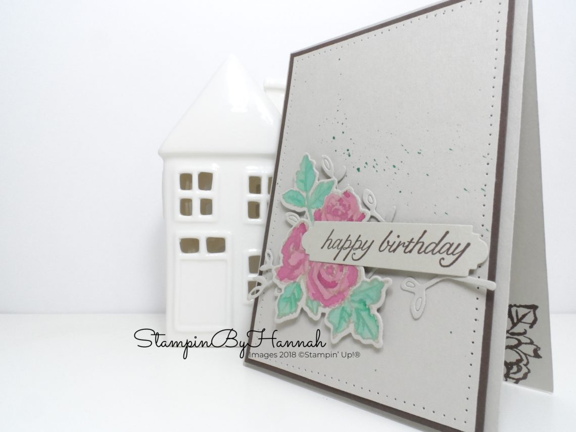 Pretty watercoloured birthday card using Petal Palette from Stampin' Up!