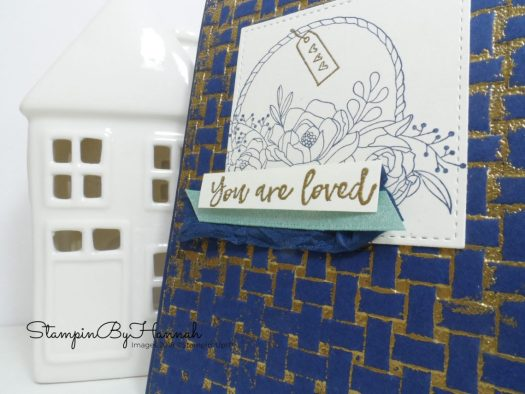 How to double emboss with the Basket Weave Textured Impressions Embossing Folder from Stampin' Up!