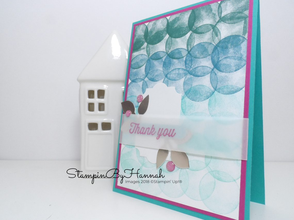 Fabulous Sale-a-bration Thank You card using Ombre Stamping and the Eclectic Expressions Stamp Set from Stampin' Up!