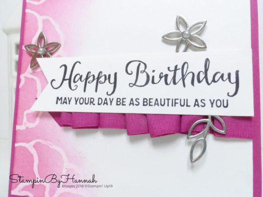 Berry Burst Embossed Resist Birthday Card using Beautiful Day from Stampin' Up!