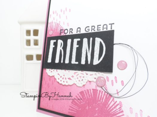 Ink Blended For a Great Friend Card using Lovely Inside and Out from Stampin' Up!