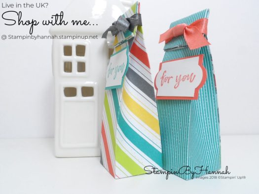 Make It Monday How to make a cute mini gift bag with patterned paper from Stampin' Up!