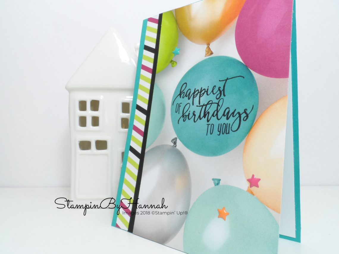 Quick and Fun Birthday Card using Picture Perfect Party Designer Series Paper from Stampin' Up!