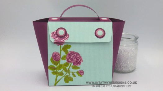 Angelina Clark's Large Handbag with Pretty Garden from Stampin' Up!