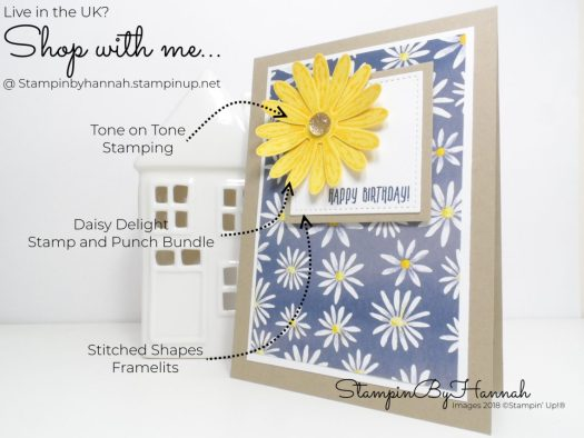 How to make a quick and easy birthday card using Delightful Daisy from Stampin' Up!