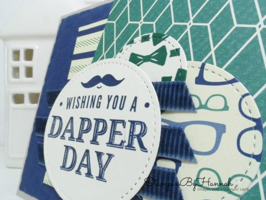 Cool Man's card using Truly Tailored from Stampin' Up!