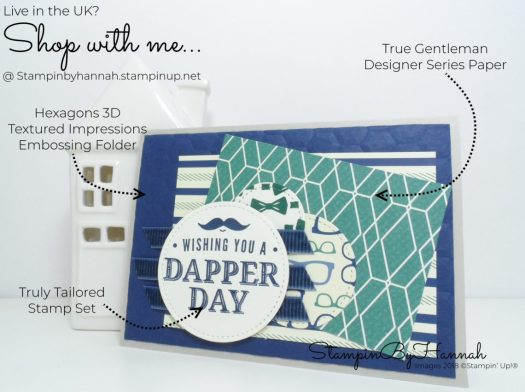 How to make a fun Masculine Birthday Card using Truly Tailored from Stampin' Up!