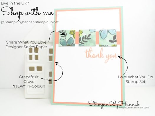 Inspire.Create.Challenge 017 Sketch Challenge with Share What You Love from Stampin' Up!