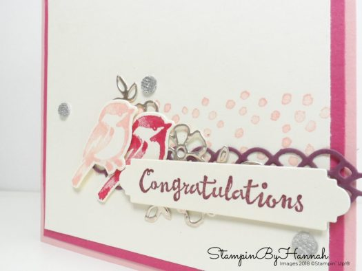 InspireINK Blog Hop Wedding Card using Petal Palette from Stampin' Up!