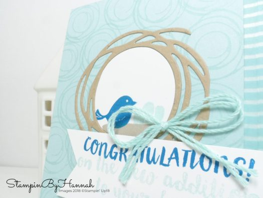 Cute little baby congratulations card using Swirly Bird from Stampin' Up!