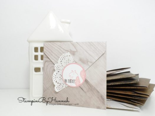 Make It Monday How to make a cute envelope using Designer Series Paper from Stampin' Up!