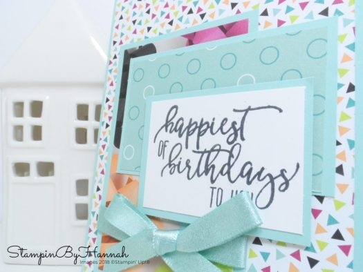 How to make a quick and easy Birthday Card using scraps of Designer Series Paper from Stampin' Up!