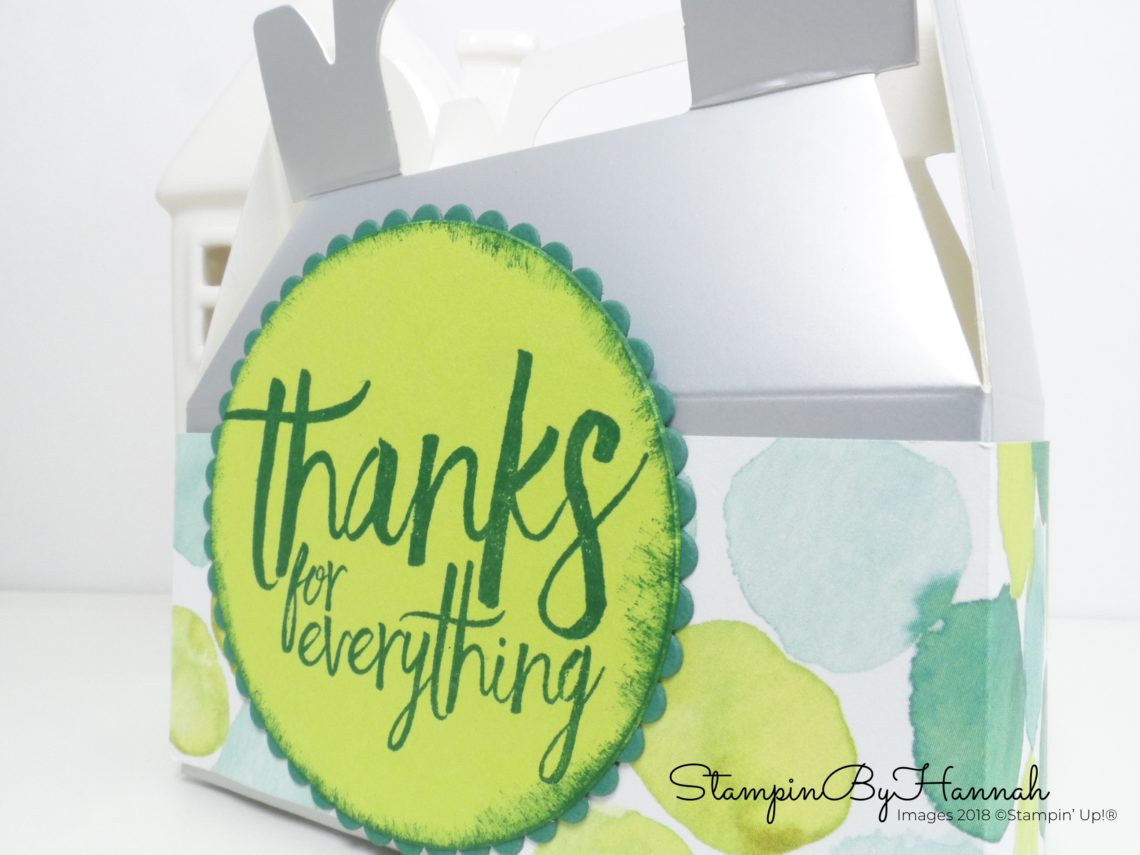 How to decorate Stampin' Up! Mini Gable Boxes