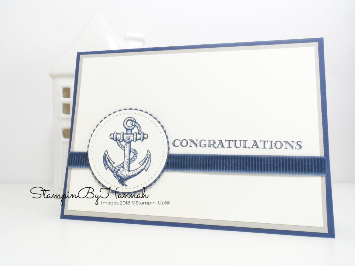 Quick and Easy Congratulations Card using Guy Greetings from Stampin' Up! for Facebook Live