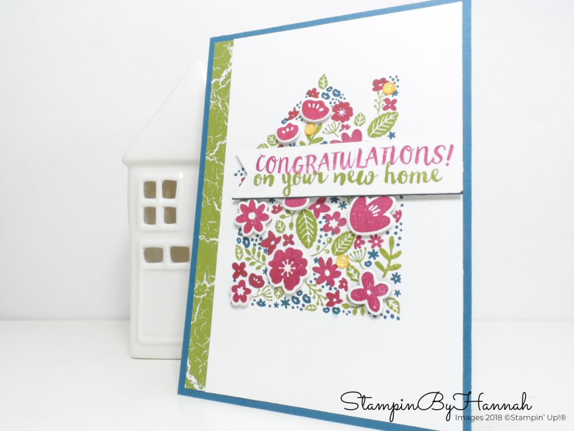 Congratulations on your new home card using Home Life from Stampin' Up!