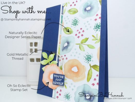 Fun ways to use Designer Series paper with StampinByHannah Independent Stampin' Up! Demonstrator