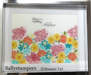 Sally Stampers Beautiful Bouquet  Home Decor Frame using Stampin' Up! products