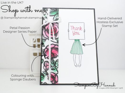 Hand Delivered Thank You Card using Designer Series Paper from Stampin' Up!