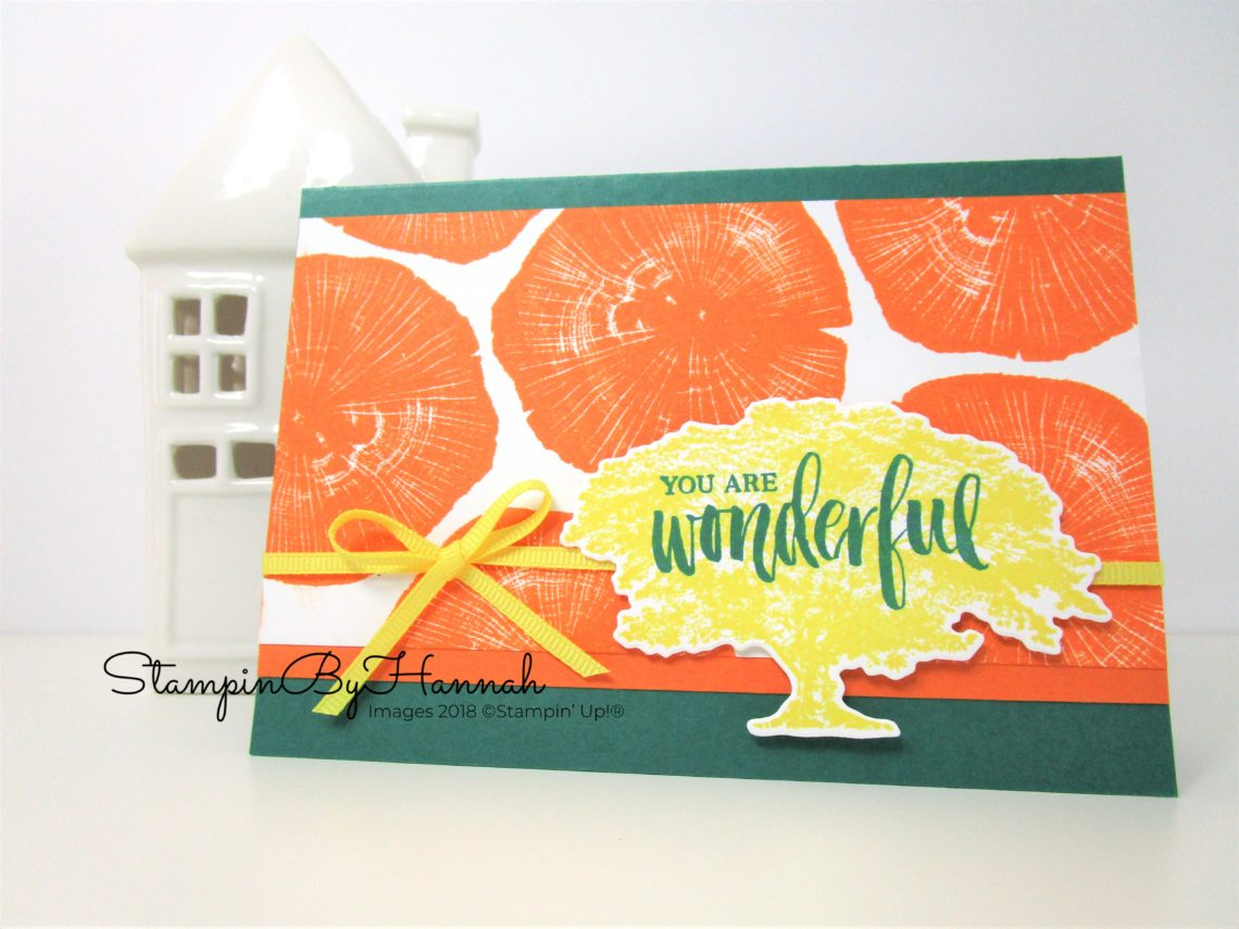 Bright You are Wonderful Card with Trees using Rooted in Nature from Stampin' Up!