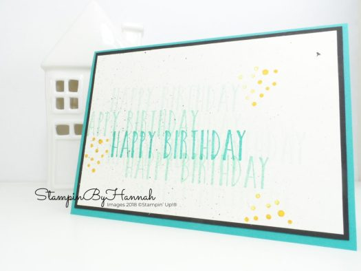 Make It Monday Simple Stamped Birthday Card with Perennial Birthday from Stampin' Up!