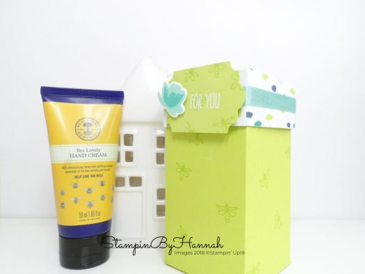 Neal's Yard Bee Lovely Hand Cream Gift Box using Stampin' Up! products Video Tutorial