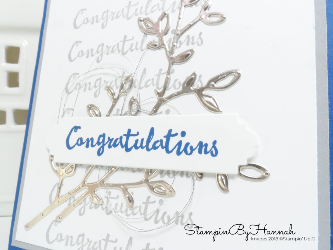 Simple Congratulations card using dies from Petals and More from Stampin' Up!