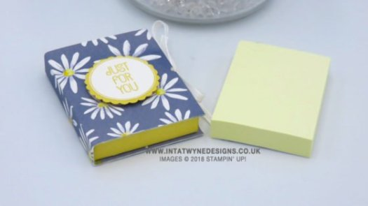 Mini Post It Note Holders Using Designer Series Paper from Stampin' Up!