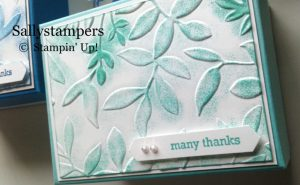 SallyStampers Embossed Top Box using Stampin' Up! products