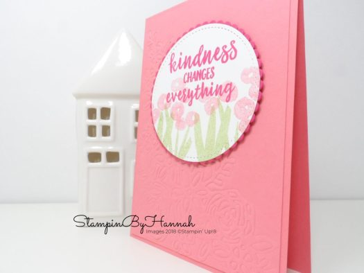 How to emboss with Stampin' Up! dies Video Tutorial using Springtime Impressions from Stampin' Up!