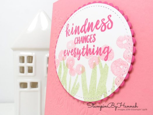 Fun Floral embossed Kindness Card using Abstract Impressions from Stampin' Up!