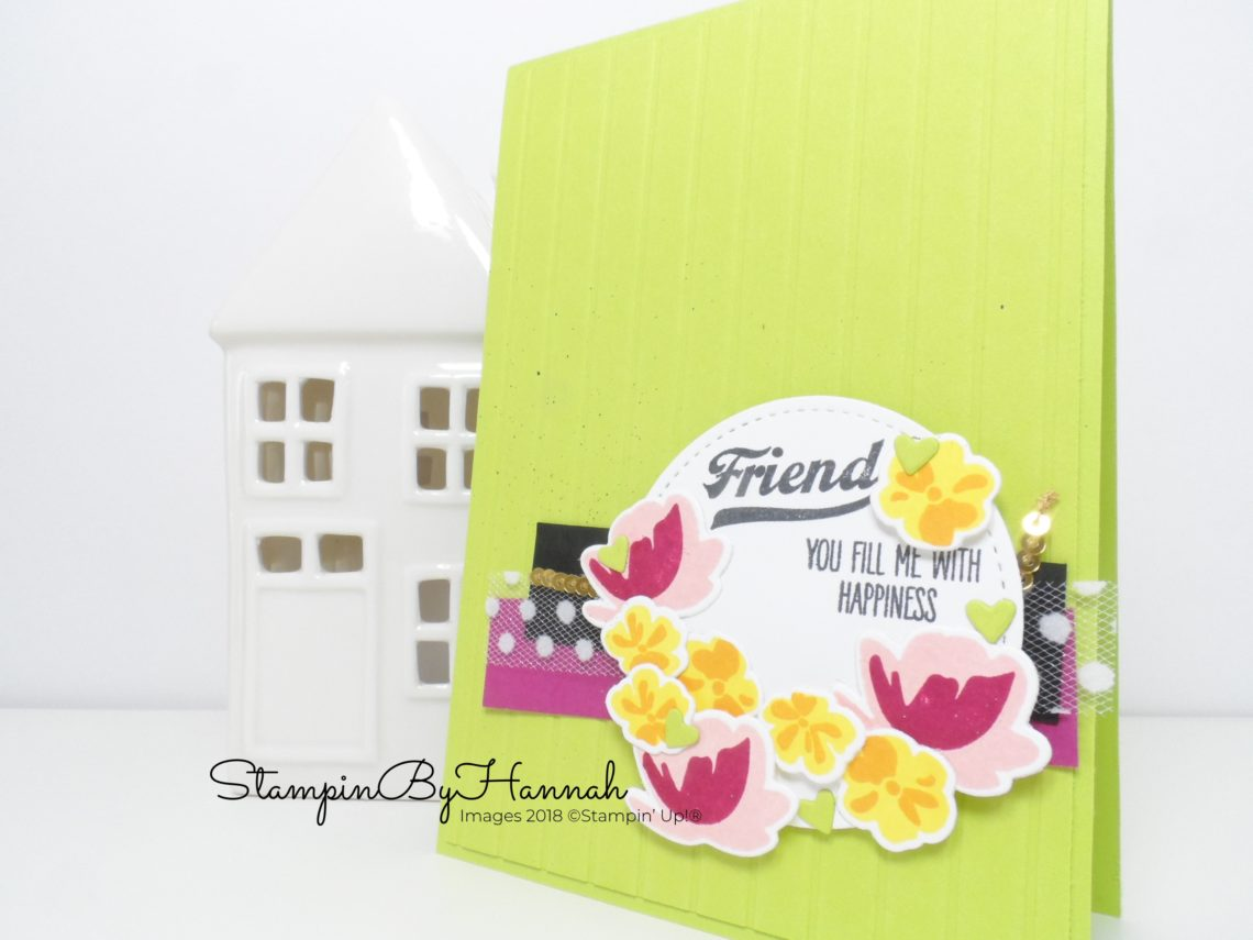 How to make a bold friendship card using Jar of Love from Stampin' Up!