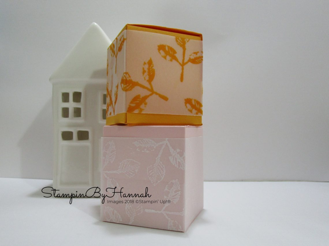 How to make cute Vellum boxes for Yankee candles with Stampin' Up! products