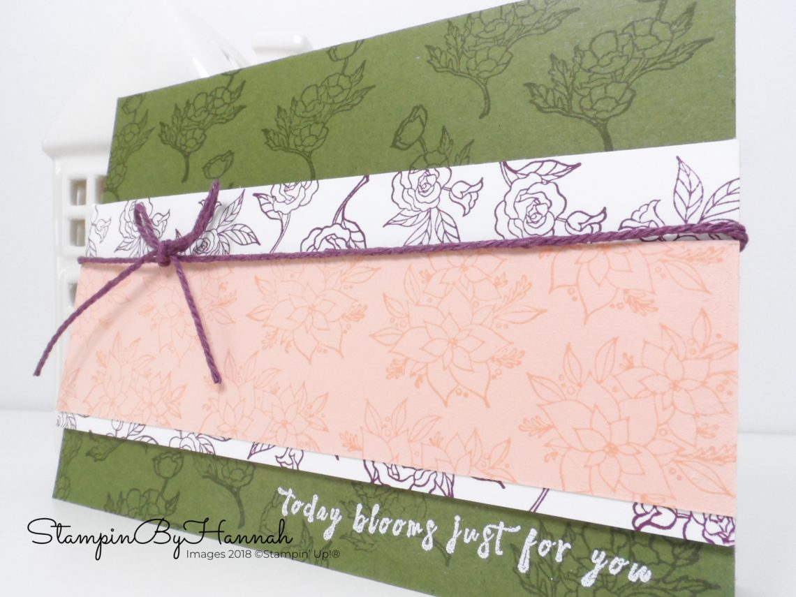 Fun Floral Thank You Card using In Every Season from Stampin' Up!