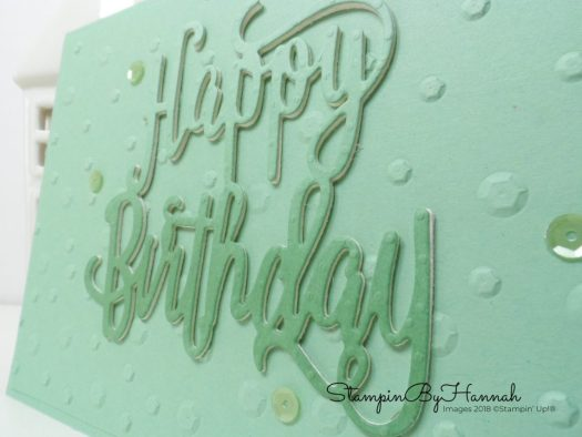 Mint Macaron Sequin Birthday Card using Stampin' Up! products