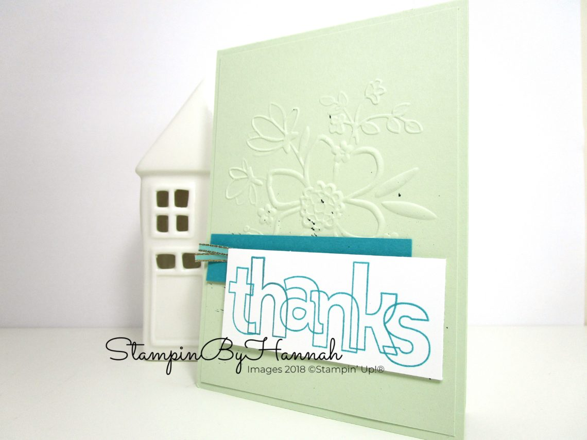 Card Making Video Tutorial using Lined Alphabet Stamps from Stampin' Up! Thank You Card