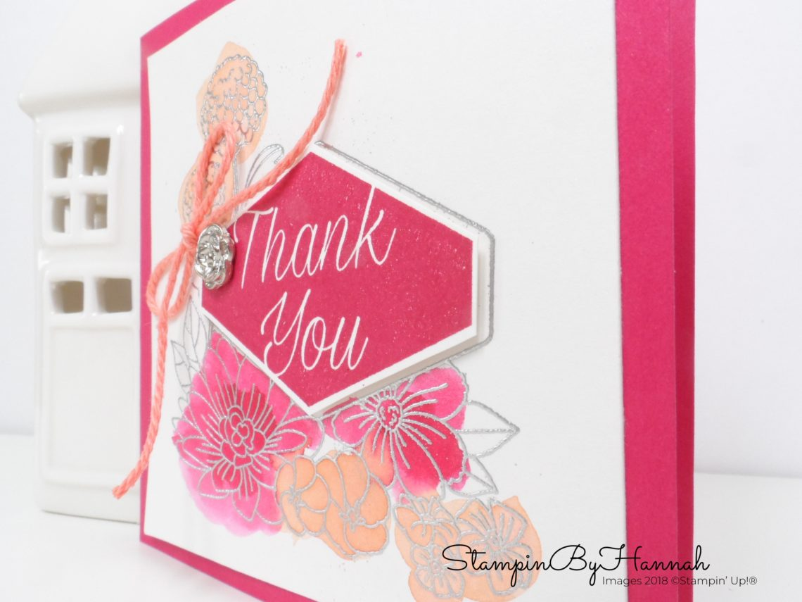 Make It Monday Video Tutorial Watercolour Accented Blooms from Stampin' Up!
