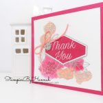 How to create a fun watercoloured Thank you card using Accented blooms from Stampin' Up!