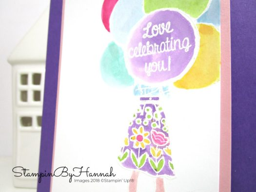 Hand Delivered Watercolour card using Stampin' Up! products