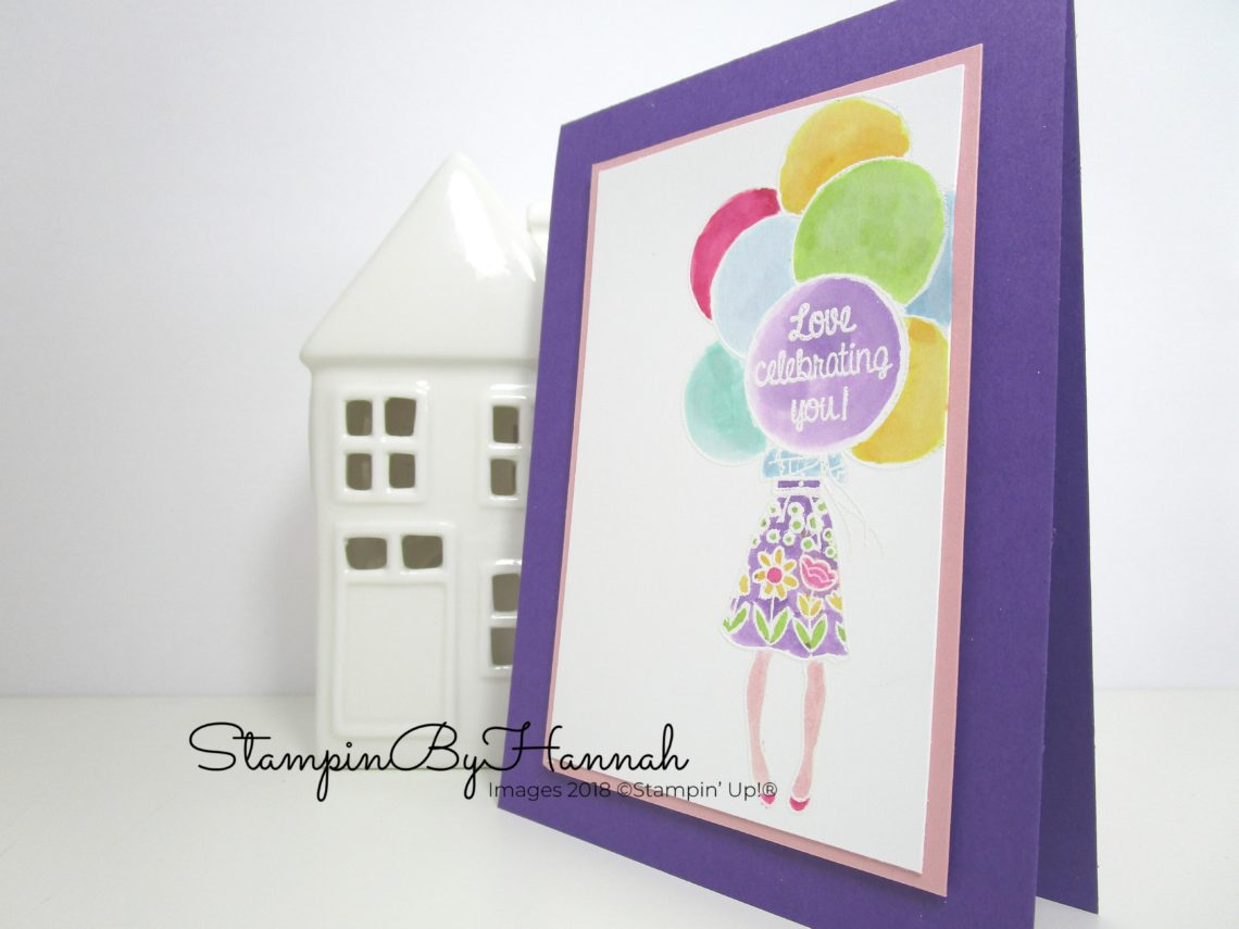 Fun Congratulations card using Hand Delivered from Stampin' Up!
