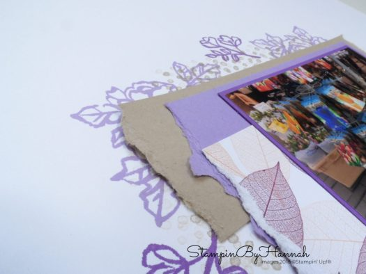 How to use the Stamparatus to stamp on 12 x 12 card stock with Stampin' Up!