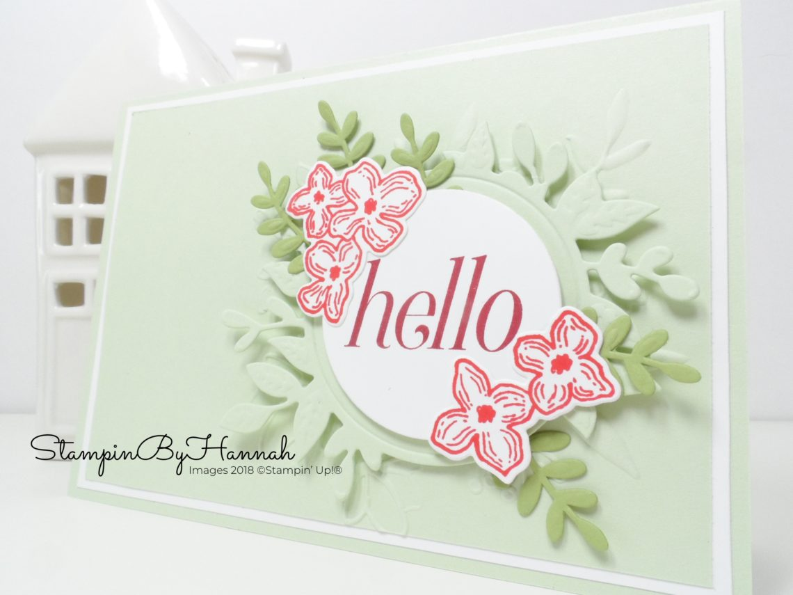 Pretty Hello card using Floral Frames from Stampin' Up!