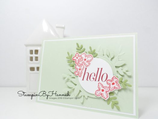 Floral Frames Hello card with die cutting and embossing using Stampin' Up! products