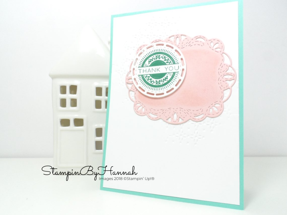 How to make a pretty Thank You card using Stitched All Around from Stampin' Up!
