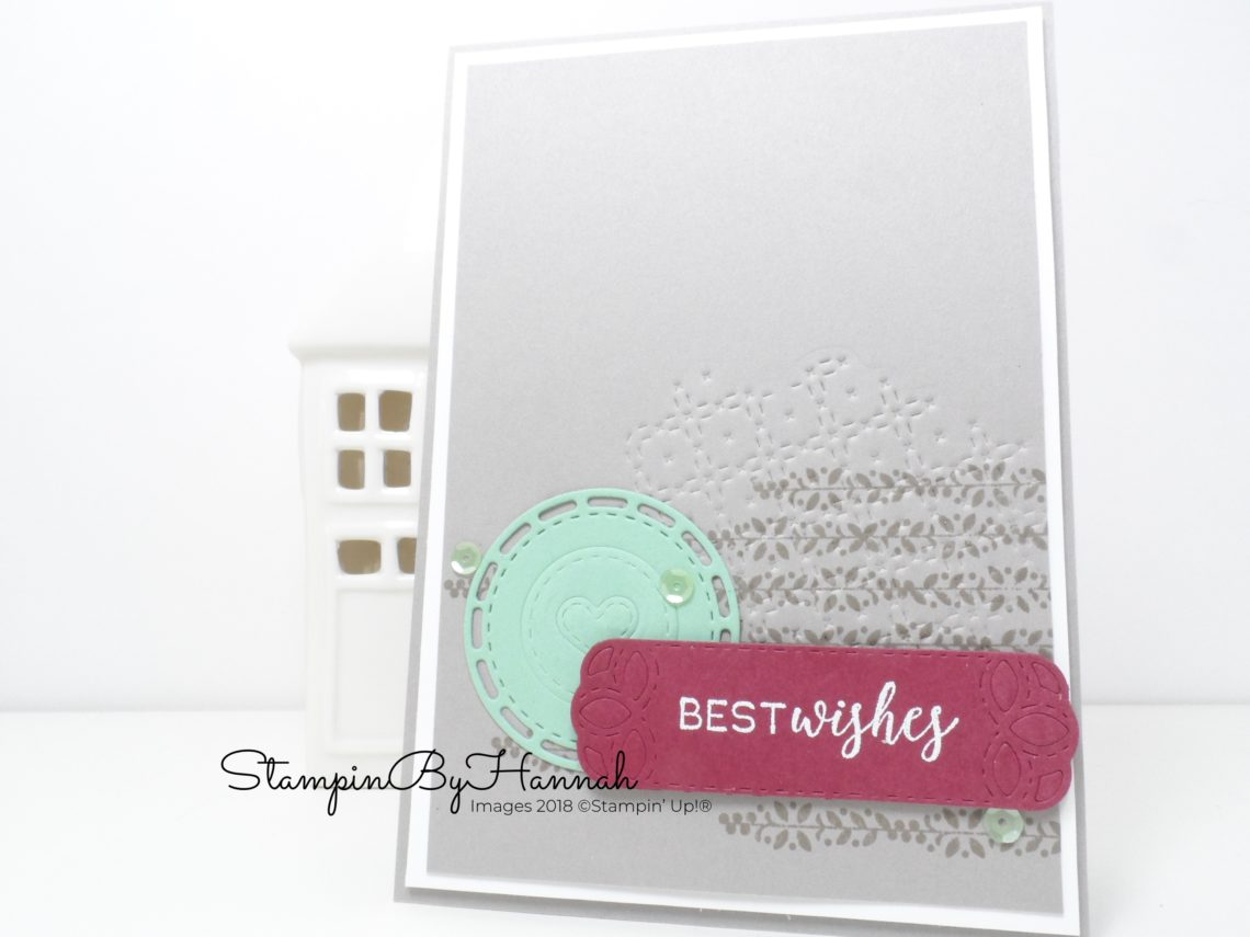 How to use Stampin' Up! dies to emboss