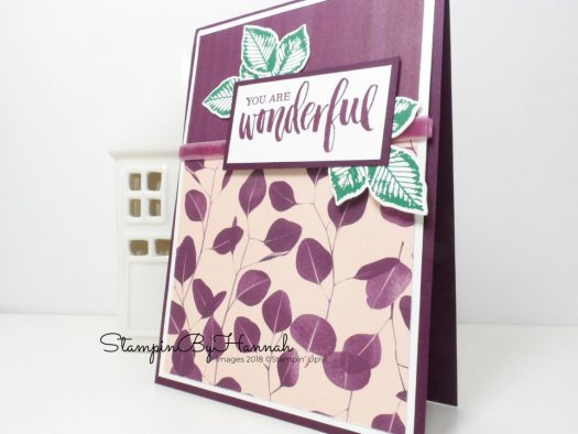 You are Wonderful Nature's Poem Card using Rooted In Nature from Stampin' Up!
