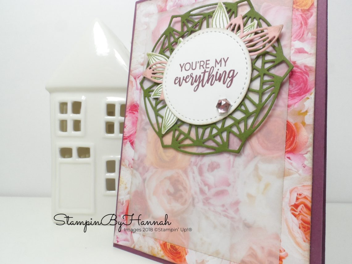 How to create a pretty vintage floral card using Petal Promenade from Stampin' Up!