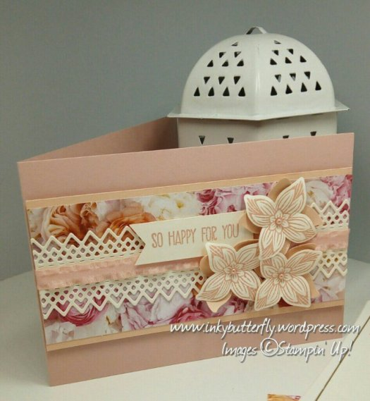 fabulously Floral congratulations card using Petal Promenade from Stampin' Up! by Verity Pursglove